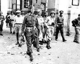 General Mark Clark entering Rome in 1944.