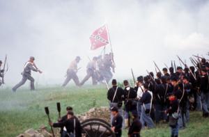 Reenactment of the Battle of Gettysburg in 2003. (Robert London / The Baltimore Sun)