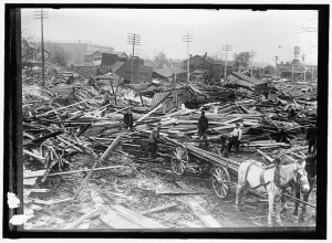Damage from the 1913 Dayton flood.