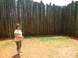 Tracy Root on a research trip to the site of  Andersonville Prison in summer 2012.