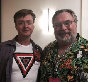 Authors AJ Huntley and Jonathan Maberry at the 2015 Dragon*Con held in Atlanta.