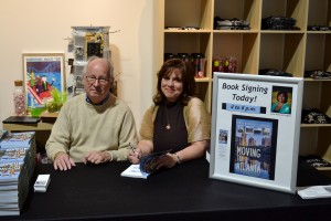 My publisher Newt Barrett from Voyager Media was on hand to celebrate the book launch.