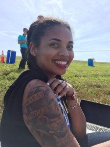 "Kayla, 19, has always dreamed of being an astronaut. Her tattoo by Martin Buechler includes the Neal Armstrong quote: ""Humanity is not forever chained to this planet."""