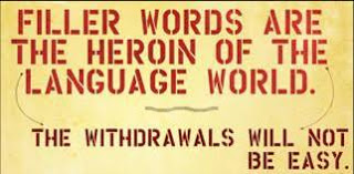Filler words in essays